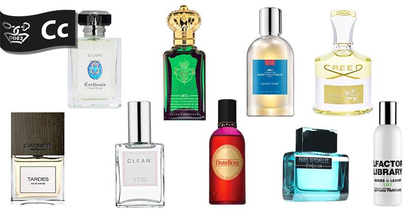 бренды нишевой парфюмерии - carner barcelona, clive christian, creed